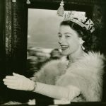 The Queen waves from her carriage after her Coronation, London