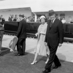 Her Majesty Queen Elizabeth II and President Dwight D. Eisenhower arrive to officially open the St Lawrence Seaway
