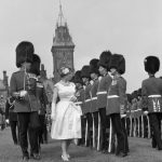 The Queen inspects the Guard of Honour at Parliament Hill, Ottawa