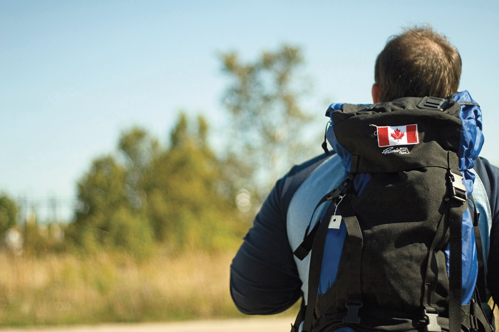 Canadian backpacker / Un routard canadien